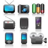 Icon set. Web icons set: internet theme (12 icons Stock Photos