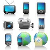 Icon set. Web icons set: internet theme (9 icons Royalty Free Stock Photo