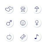 Icon Set. Web Icon Set on White royalty free illustration