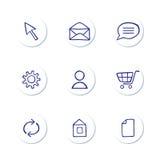 Icon Set Royalty Free Stock Image