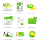 Icon set. Royalty Free Stock Photos