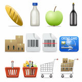 Icon set. Web icons set: internet theme (12 icons stock illustration