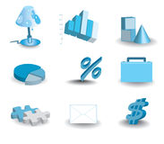 Icon set. Icon Business set.Success in Business Stock Photography