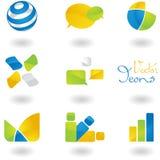 Icon set Stock Photos