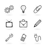 Icon Set. Web Icons on White Background Stock Photos