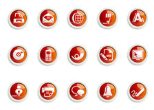 ICON SET. Stylized Web and Communication icon designs, for use in your products and presentations Royalty Free Stock Photography