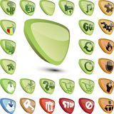 Icon set. Set of  icons in different colors Royalty Free Stock Photography