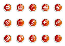 Icon set. Stylized Communication icon designs, for use in your products and presentations Stock Photography