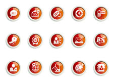 Icon set. Stylized Social Media icon designs, for use in your products and presentations Stock Images