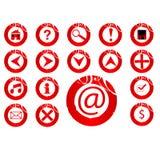 Icon set. Arrow,search,music,send,etc Stock Photos