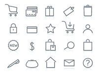 Icon set. Vector illustration of original e-commerce Icon Set, good for web, software etc Stock Image