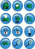 Icon set. A pack of icons for web sites Royalty Free Stock Image