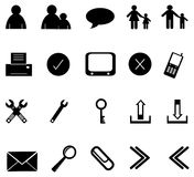 Icon set 2 Royalty Free Stock Image