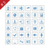 Icon set #2. New collection of different icons for using in web design. Set #2 Royalty Free Stock Image
