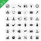 Icon set #2. New collection of different icons for using in web design. Set #2 Stock Images