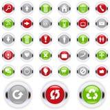 Icon Set. Set of colorful communication icons Royalty Free Stock Photo
