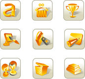 Icon set. Set icons about advertising and marketing Royalty Free Stock Photos