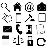 Icon set Stock Images