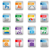 Icon set. Colors for web design Stock Photography