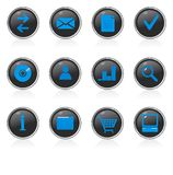 Icon set. Useful icon set for different applications Stock Photos