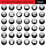 Icon set #3 travel Royalty Free Stock Photography