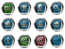 Icon set 3d Royalty Free Stock Image