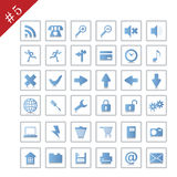 Icon set #5. Collection of different icons for using in web design. Set #5 Stock Images