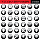 Icon set #5 general. New collection of different icons for using in web design. Set #5. General