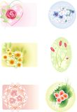 Icon set. With diffrent flowers Stock Photography