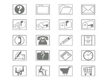Icon Set. For web or print Stock Photo