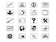 Icon Set. For web or print Stock Photos
