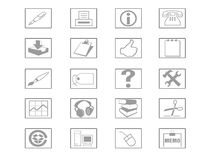 Icon Set. For web or print Stock Images
