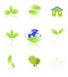 Icon Set. Of go green logo Stock Photography