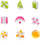 Icon set. With different logos and icons Stock Photo