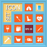 Icon set. Abstract creative concept vector set of healthcare and medical icons for web and mobile app  on background, art illustration template design, business Royalty Free Stock Image