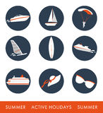 Icon set of  activities Royalty Free Stock Images