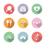 Icon set activity and rest color with shadow Royalty Free Stock Photo