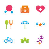 Icon set activity and rest Royalty Free Stock Photos