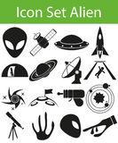 Icon Set Aliens. With 16 icons for the creative use in graphic design Stock Photo