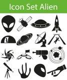 Icon Set Aliens Stock Photo