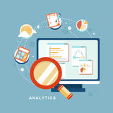 Icon set of analytics elements Royalty Free Stock Images