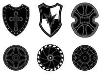 Icon set of ancient, medieval shield Stock Photo