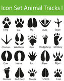 Icon Set Animal Tracks I Stock Photo