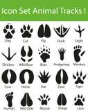 Icon Set Animal Tracks I Stock Photo