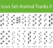 Icon Set Animal Tracks II Stock Photography