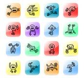 Icon set animated ball Royalty Free Stock Photography
