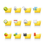 Icon Set - Aplication Folders Stock Photos
