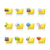 Icon Set - Aplication Folders Stock Images