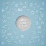Icon Set Around Text Circle Royalty Free Stock Image