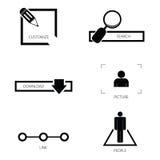 Icon set art vector silhouette Royalty Free Stock Photos